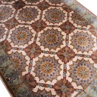 Ethan Allen Hand-Knotted Indian Wool Area Rug