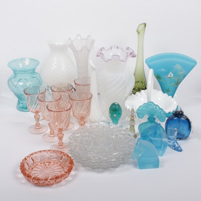 Fenton, Fostoria, and More Glassware, Vintage