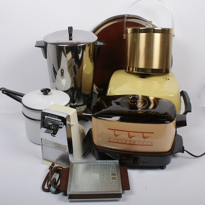 Slow Cooker, Coffee Warmer, Ice Bucket and Plate Warmer, Mid-Century