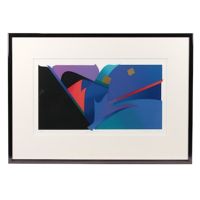 "Eugenie Torgerson Abstract Serigraph ""Heart of Fire"""