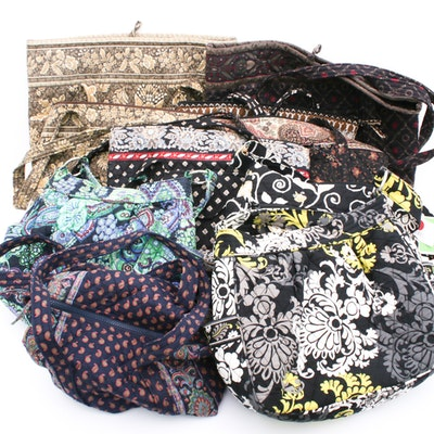 "Vera Bradley Totes and Handbags Including ""Yellow Bird"" and ""Villager"""