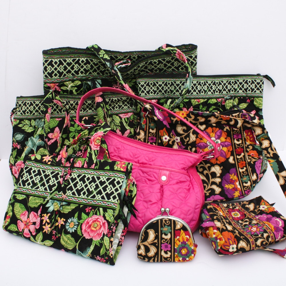 Vera Bradley Quilted Cotton Travel Bags Totes And Handbags Ebth