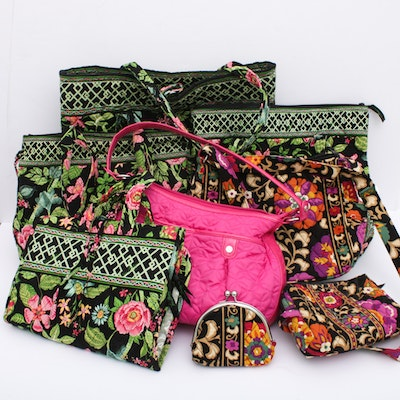 Vera Bradley Quilted Cotton Travel Bags, Totes, and Handbags