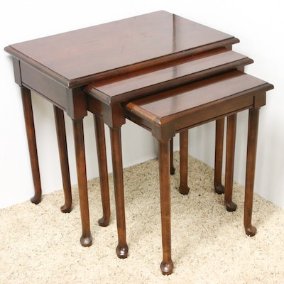 Queen Anne Style Mahogany Nesting Tables from Hammary Furniture