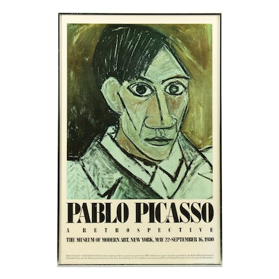 "Exhibition Poster for ""Pablo Picasso: A Retrospective"" at Moma, 1980"
