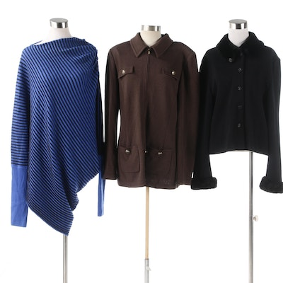 St. John Brand Jackets and Poncho Style Sweater