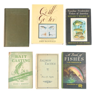 "Fishing Books including 1946 ""A Book of Fishes"" by S. Kip Farrington, Jr."