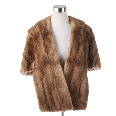 Mink Fur Stole from McAlpin's, 1960s Vintage