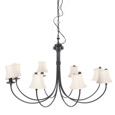 Metal Candelabra Style Chandelier, Late 20th Century