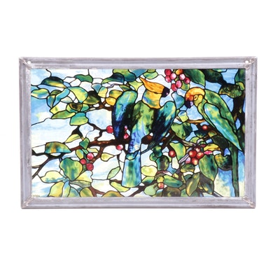 "Museum of Modern Art ""Louis Comfort Tiffany Leaded Glass"" Wall Decor"