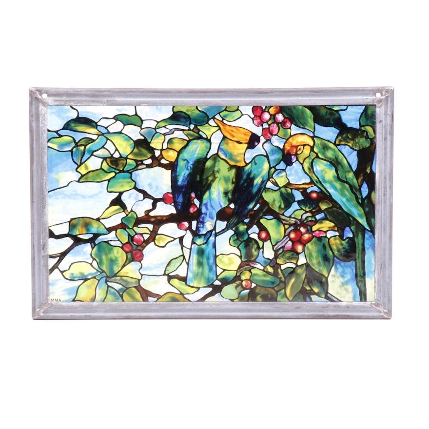 "Museum of Modern Art ""Louis Comfort Tiffany Leaded Glass"" Wall Decor"