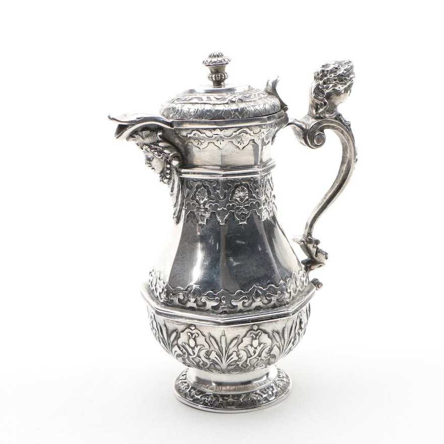 Austro-Hungarian 800 Silver Creamer, Late 19th/ Early 20th Century