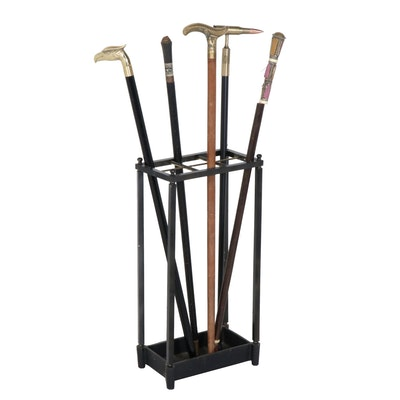 Sword Canes with Rack