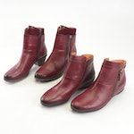 Women's Pikolinos Oxblood Red Leather Ankle Boots