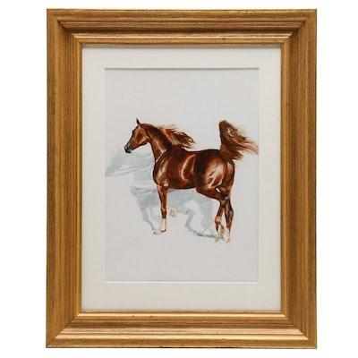 Susan Dorazio Watercolor Painting of Horse