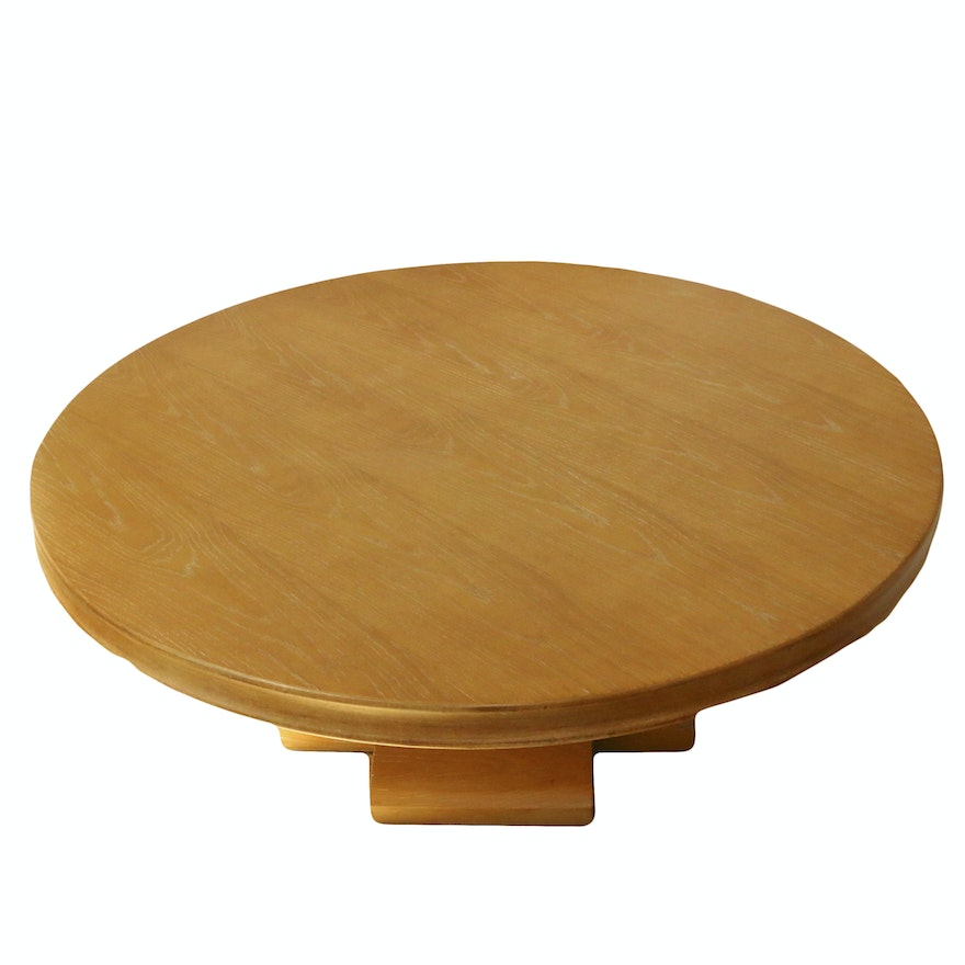 Contemporary Round Pedestal Base Coffee Table