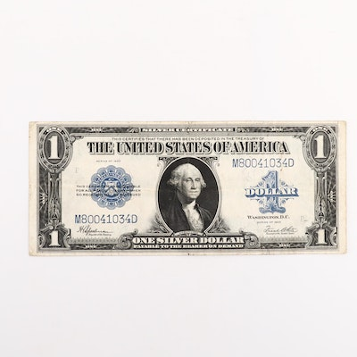 Large Format Series of 1923 Blue $1 Silver Certificate