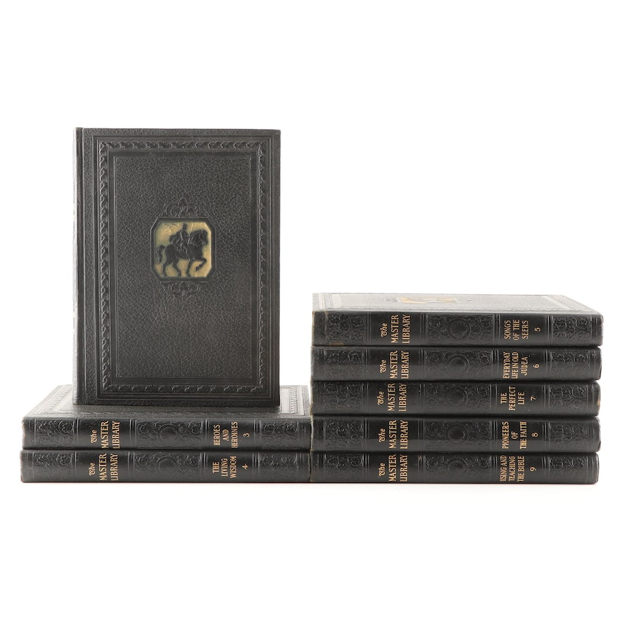 """1927 """"The Master Library"""" Eight Volume Partial Set"""