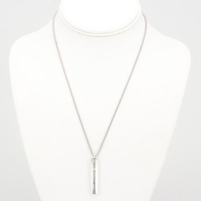 Tiffany & Co. Sterling Silver Ingot with Serpentine Chain
