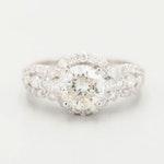 18K White Gold 2.08 CTW Diamond Ring