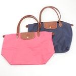 Longchamp Le Pliage Nylon and Leather Trim Collapsible Totes