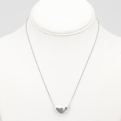 Tiffany & Co. Elsa Perreti Bean Design Sterling Necklace