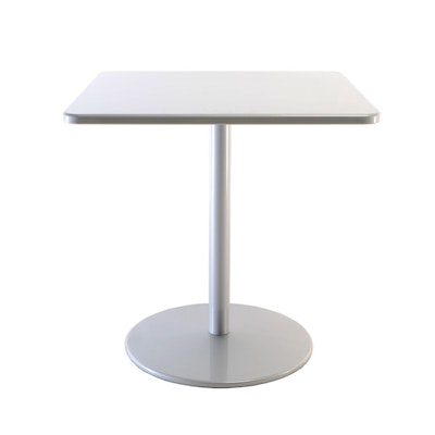 """Design Within Reach """"Boulevard"""" Powder Coated Aluminum Square Dining Table"""
