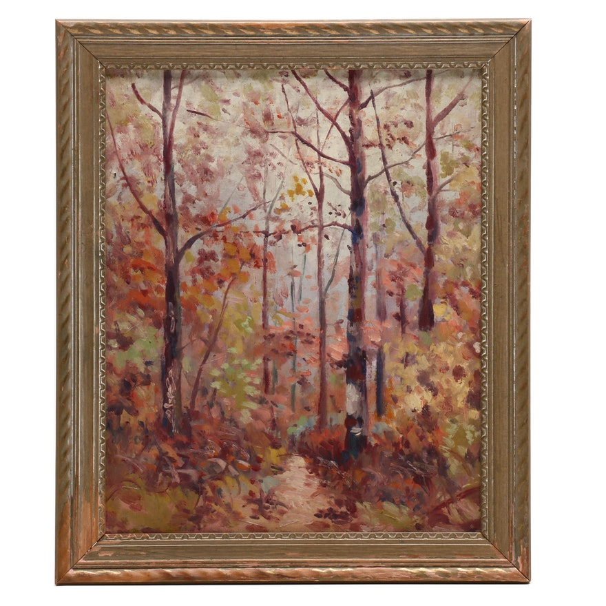 Autumn Landscape Oil Painting