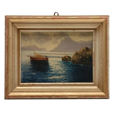 Mid 20th Century Seascape Oil Painting