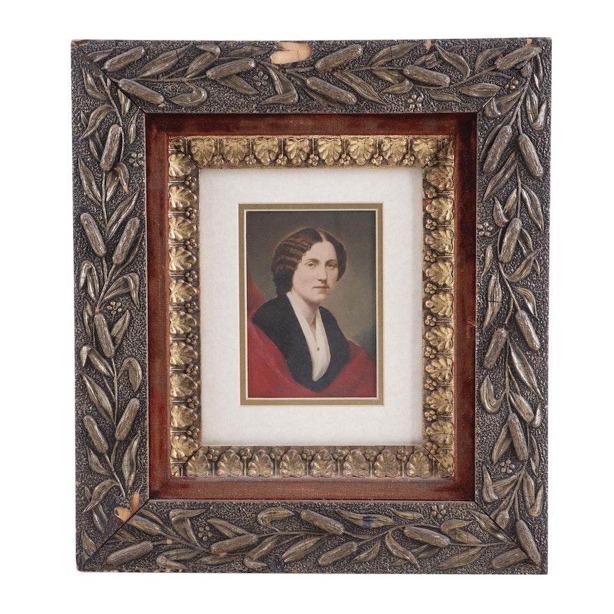 Portrait Hand-Painted Albumen Print