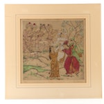 Elyse Ashe Lord East Asian Style Figural Etching