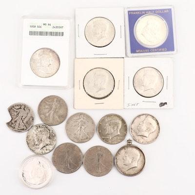 Vintage to Modern U.S. Silver Half Dollars