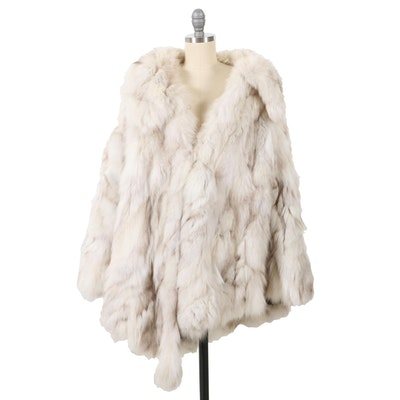 Stanley Rich Fox Fur Poncho