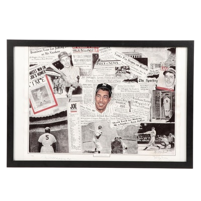 Joe DiMaggio Signed Limited Lithograph, COA