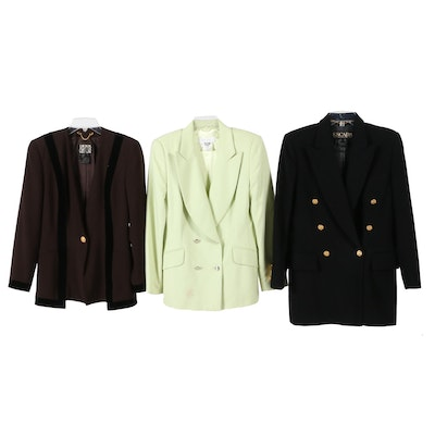 Escada Couture Wool Jacket and Escada Wool Blend Double-Breasted Jackets