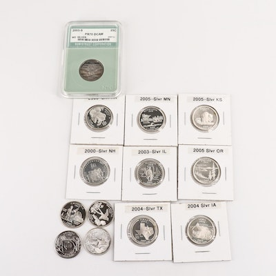 Twelve Proof Silver Statehood Quarters