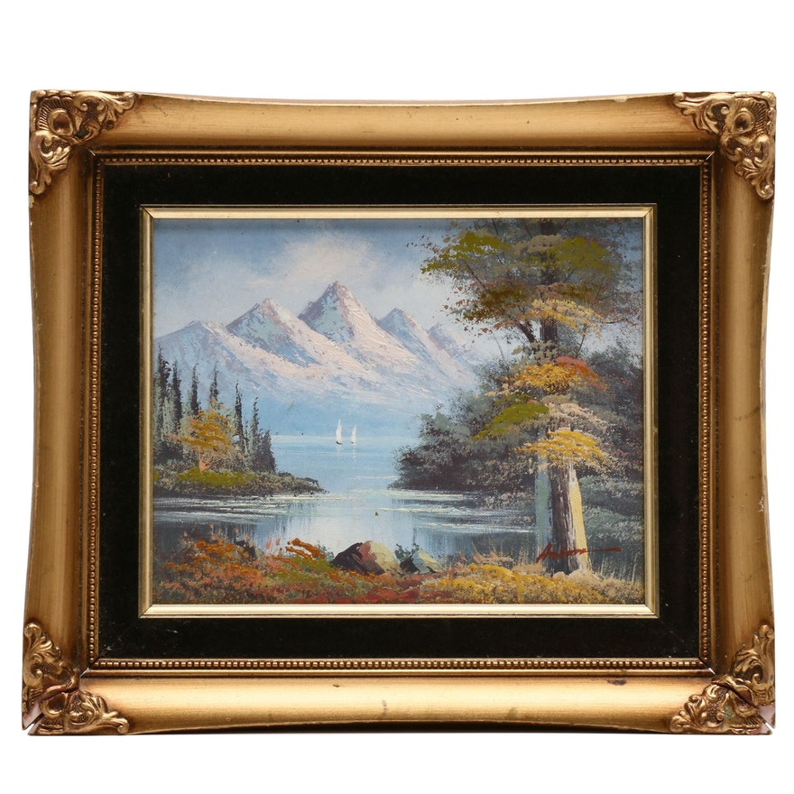 Mid 20th Century Oil Landscape Painting