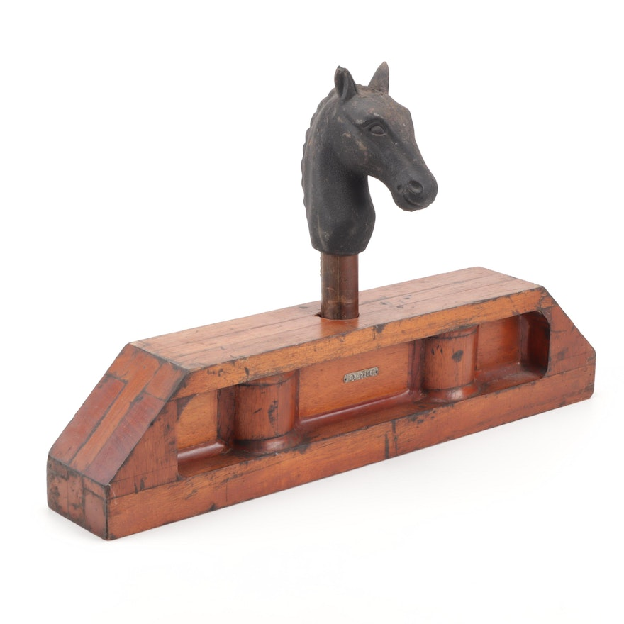 Industrial Wooden Mold with Metal Horse Head Casting