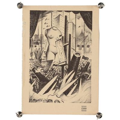 "Christopher Nevinson (C.R.W.) Nevinson Lithograph for ""The Studio"" Magazine"