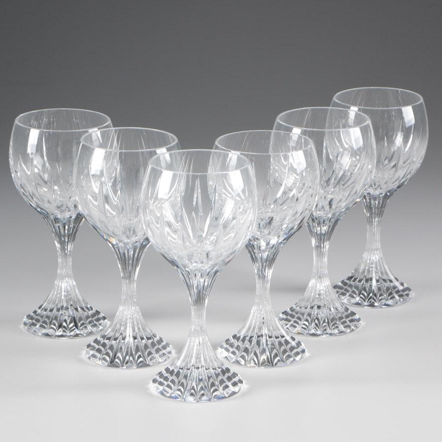 "Baccarat ""Massena"" Crystal Bordeaux Wine Glasses"