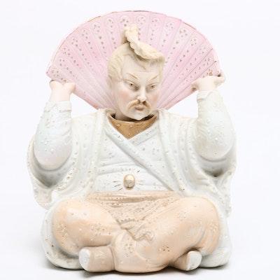 Chinese Inspired Porcelain Nodder, Mid-Century