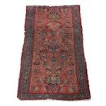 Hand-Knotted Persian Lilihan Wool Rug, Circa 1920