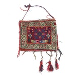Hand-Knotted Persian Kurdish Wool Bag, Circa 1920