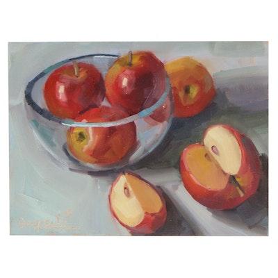 Dipali Rabadiya Still Life with Apples Oil Painting
