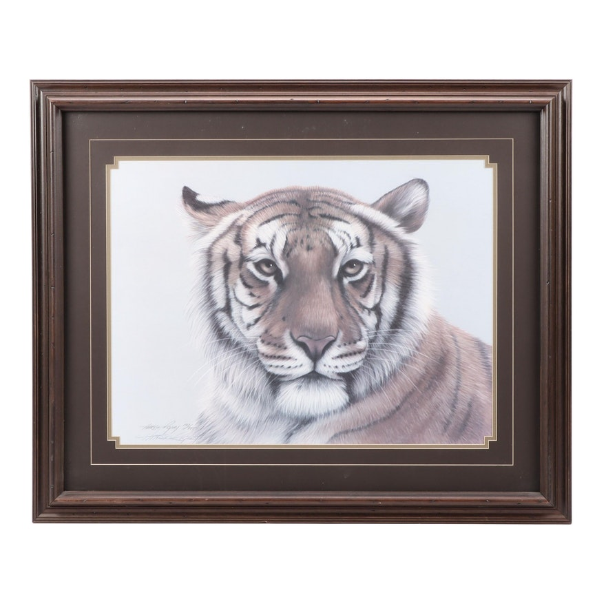 Harold Rigsby Bengal Tiger Offset Lithograph