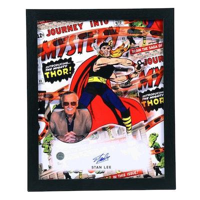 """Stan Lee Signed """"Thor"""" Framed Poster, JSA and Lee COAs"""