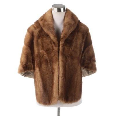 Mink Fur Stole from Sanger Harris of Dallas, Late 1960s Vintage