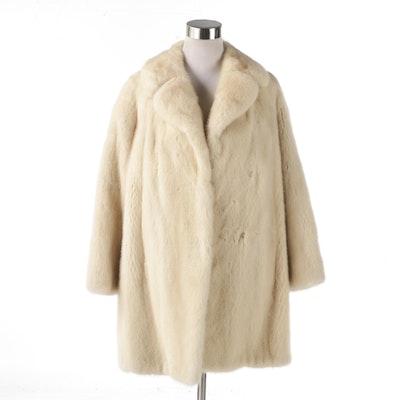 Carls North Star San Antonio Blonde Mink Coat, Vintage 1960s