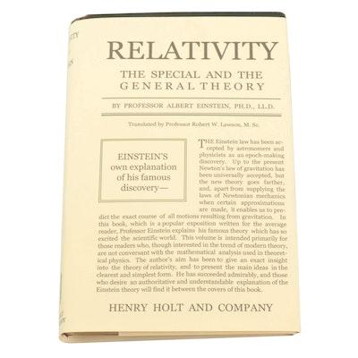 """1920 First American Edition """"Relativity"""" by Albert Einstein"""