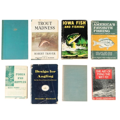 "Fishing Books including 1960 ""Trout Madness"" by Robert Traver"